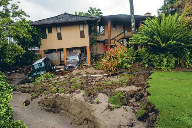 Damage to House on Kauai
