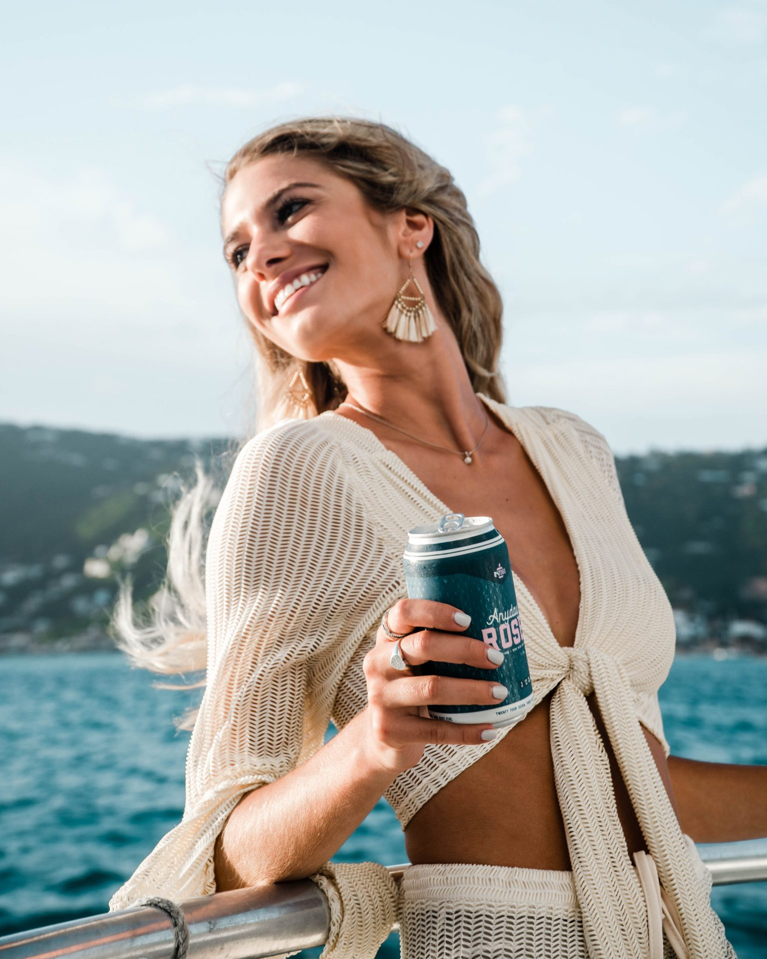 Girl on a Boat with Anyday Rosé