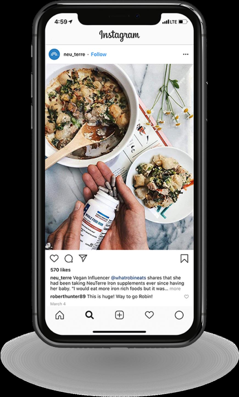 Neu_Terre Instagram Picture on Phone